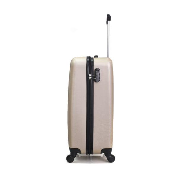 Sada 3 béžových cestovních kufrů na kolečkách Hero Atlanta