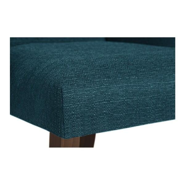 Scaun din lemn de fag Ted Lapidus Maison Absolu cu picioare maro închis, turcoaz