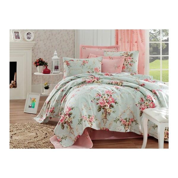 Breeze vékony pamut ágytakaró, lepedő és párnahuzat szett, 200 x 235 cm
