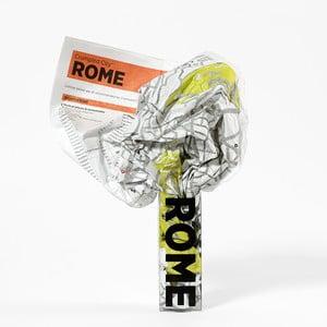 Zmačkaná cestovní mapa Palomar Řím