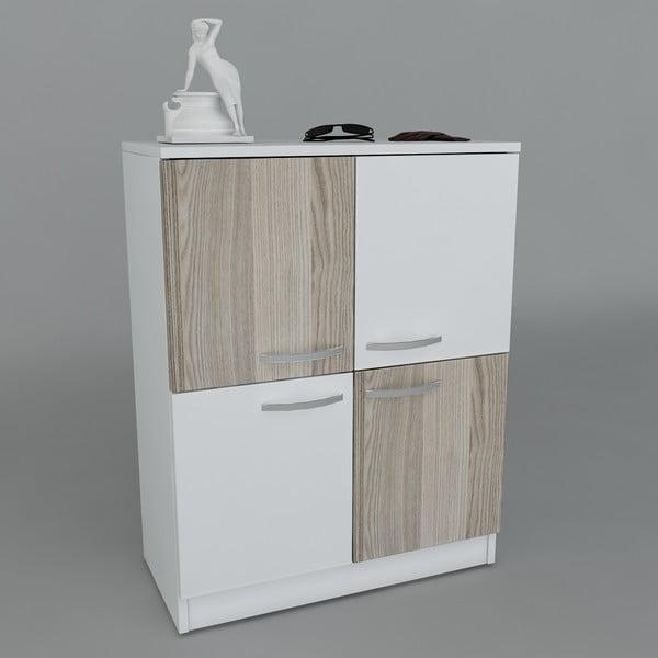 Botník Sama White/Cordoba, 70x90x35,3 cm