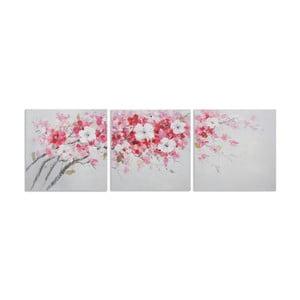 Sada 3 ručně malovaných obrazů  Mauro Ferretti Peach, 60x60cm