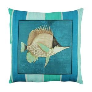 Polštář s výplní Blue Fish, 43x43 cm