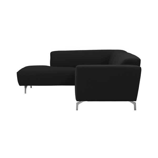 Černá rohová pohovka Windsor & Co Sofas Orion, levý roh