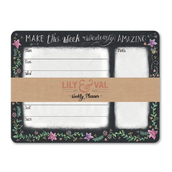 Planificator săptămânal Lily and Val by Portico Designs, 54 pag.