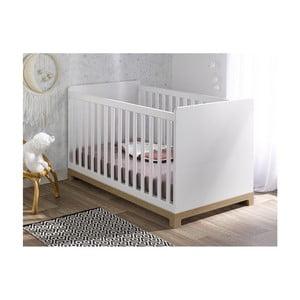 Bílá variabilní dětská postýlka BEBE Provence Escapade, 70x140cm