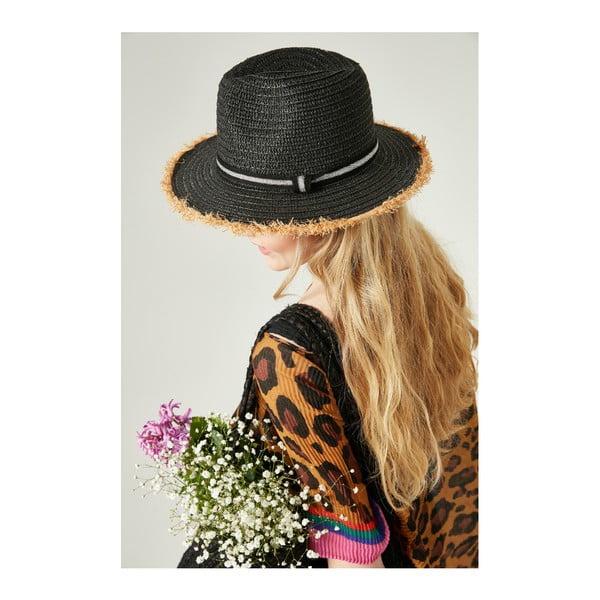 Čierny dámsky slamený klobouk Alexander McKensey Parlak