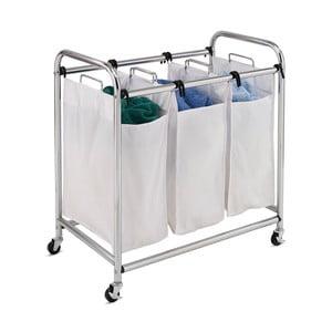 Šedý pojízdný koš na prádlo Honey Can Do Three Section
