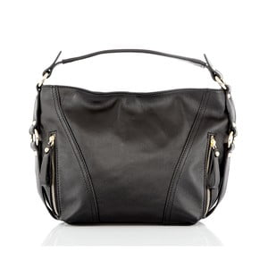 Černá kožená kabelka Glorious Black Lane