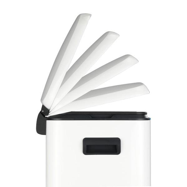 Dvojitý bílý pedálový odpadkový koš Wenko, 2x20l