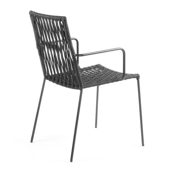 Sada 4 tmavě šedých židlí La Forma Bettie
