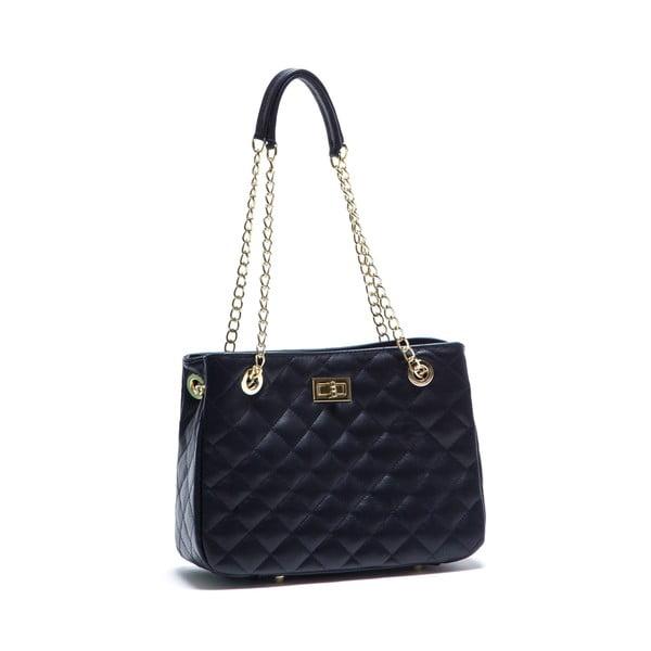 Modrá kožená kabelka Anna Luchini 2092