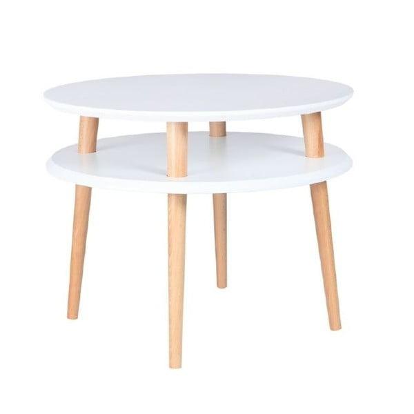 Bílý konferenční stolek Ragaba UFO,⌀57cm
