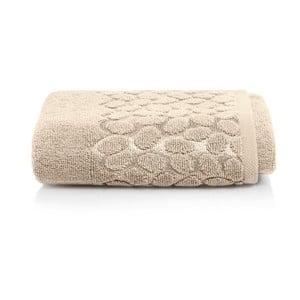 Hnědý bavlněný ručník Maison Carezza Ciampino, 50 x 90 cm