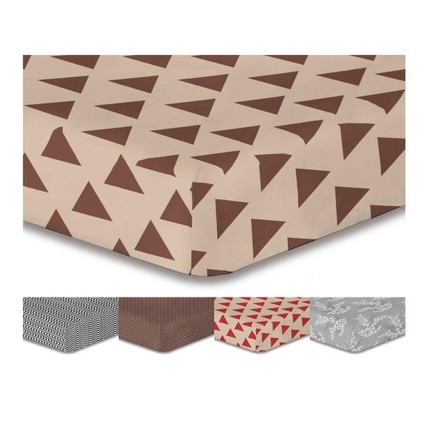 Prostěradlo z mikrovlákna DecoKing Triangles, 160 x 200 cm