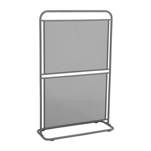 Paravan metalic pentru balcon ADDU MWH, 124 x 80 cm, gri închis