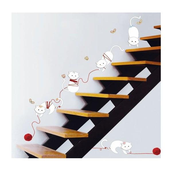 Samolepka Ambiance Cats and balls, 30 cm