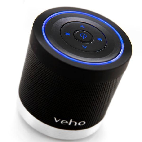 Černý mini reproduktor Veho Bluetooth 360BT s Micro SD kartou