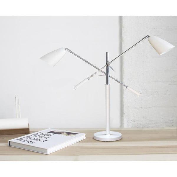 Stolní lampa Modeste, bílá