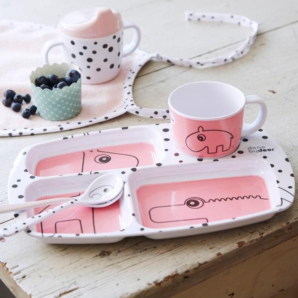 Jídelní talíř pro děti Happy Dots, malinový