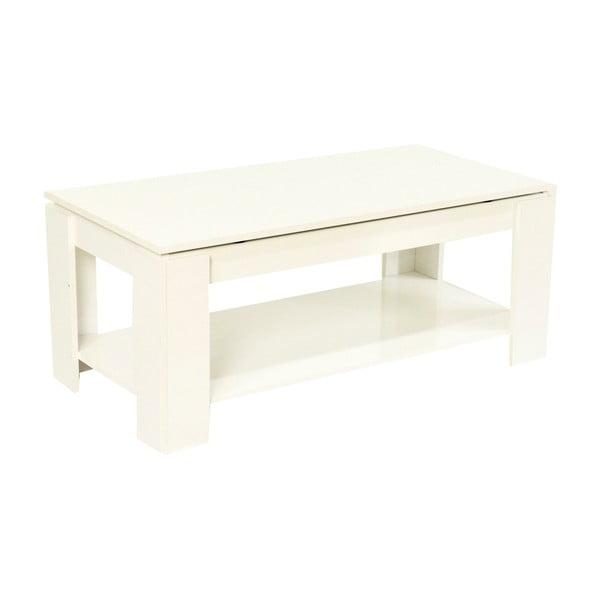 Bílý konferenční stolek s otevírací vrchní deskou Evergreen House Simply