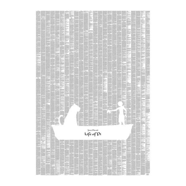 Knižní plakát Pí a jeho život, 70x100 cm