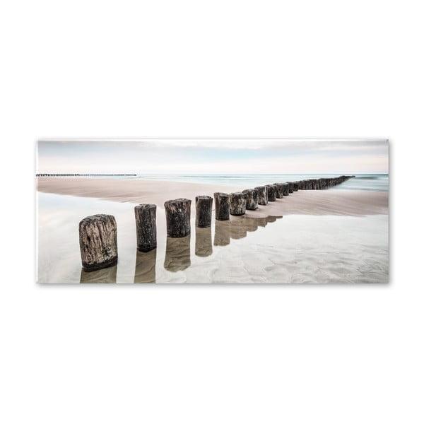 Obraz Styler Glas Strand, 50 x 125 cm