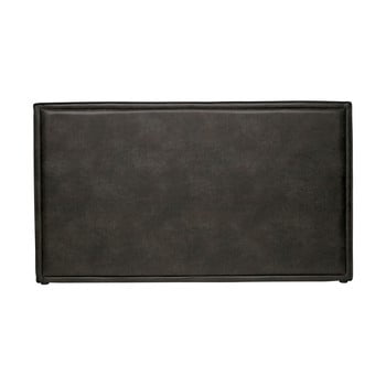 Tăblie de pat din piele reciclată BePureHome Snooze, negru de la BePureHome