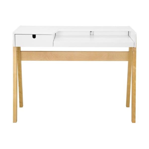 Hansa fehér nyírfa íróasztal, 111,5 x 41,5 cm - We47