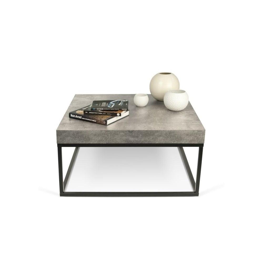 Konferenční stolek v dekoru betonu TemaHome Petra