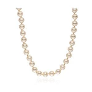 Světle žlutý perlový náhrdelník Pearls Of London Mystic, délka 50cm