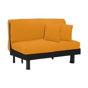 Canapea extensibilă cu 2 locuri 13Casa Lillo, galben