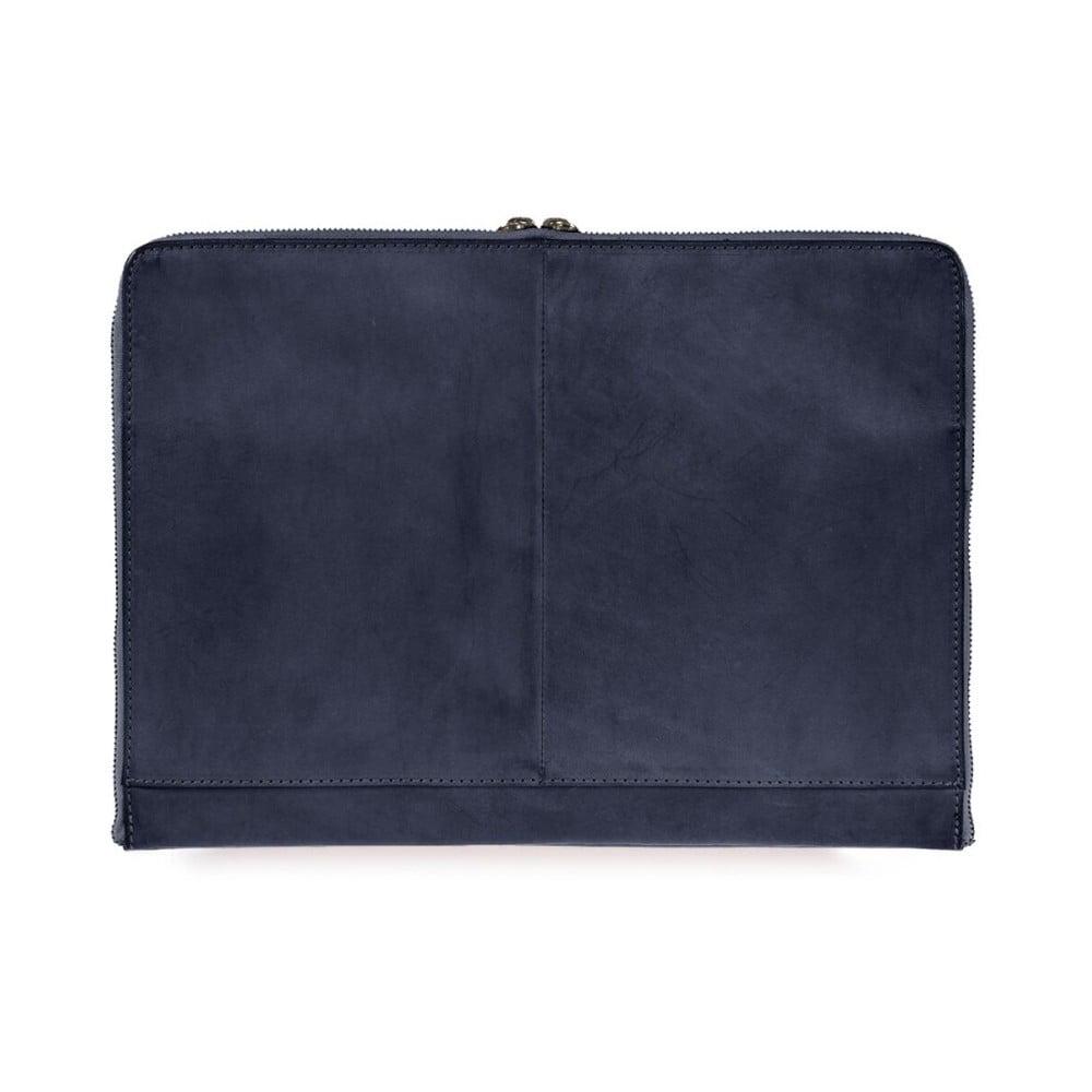 """Tmavě mdorý kožený obal na notebook 15"""" O My Bag Zipper"""