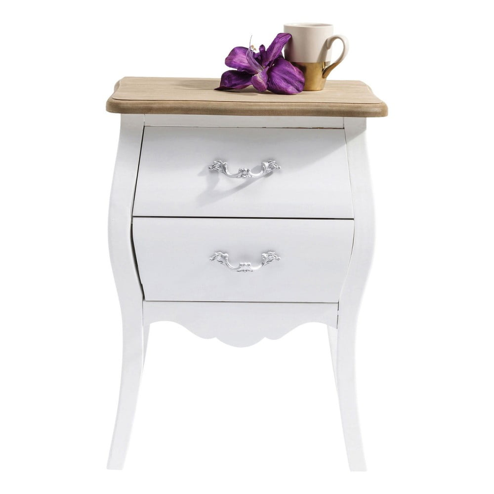 Bílá dřevěná komoda Kare Design Romantic