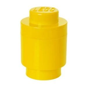 Cutie depozitare rotundă LEGO®, galben