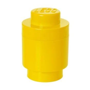 Cutie depozitare rotundă LEGO®, galben, ⌀ 12,5 cm de la LEGO®