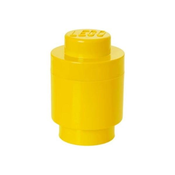 Žlutý úložný kulatý box LEGO®, ⌀ 12,5 cm