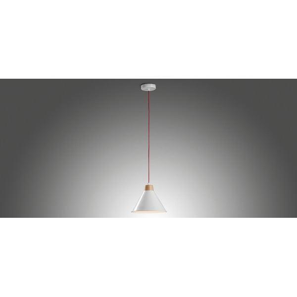 Bílé závěsné světlo La Forma Bobs