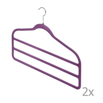 Set 2 umerașe pentru pantaloni Domopak Living, violet de la Domopak