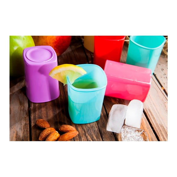 Sada 6 barevných skleniček Mezzo Taksim, 50 ml