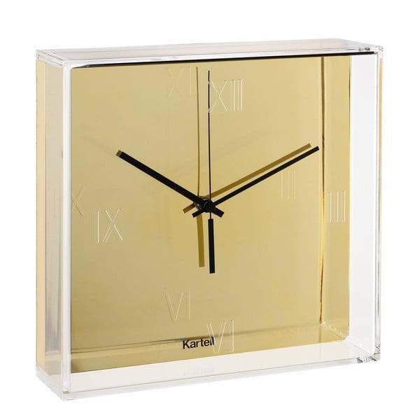 Nástěnné hodiny ve zlaté barvě Kartell Tic Tac