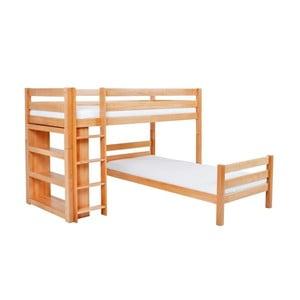 Dětská patrová postel z masivního bukového dřeva Mobi furniture Emil, 200x90cm