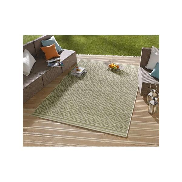 Zelený koberec vhodný i na ven Karo, 140x200cm
