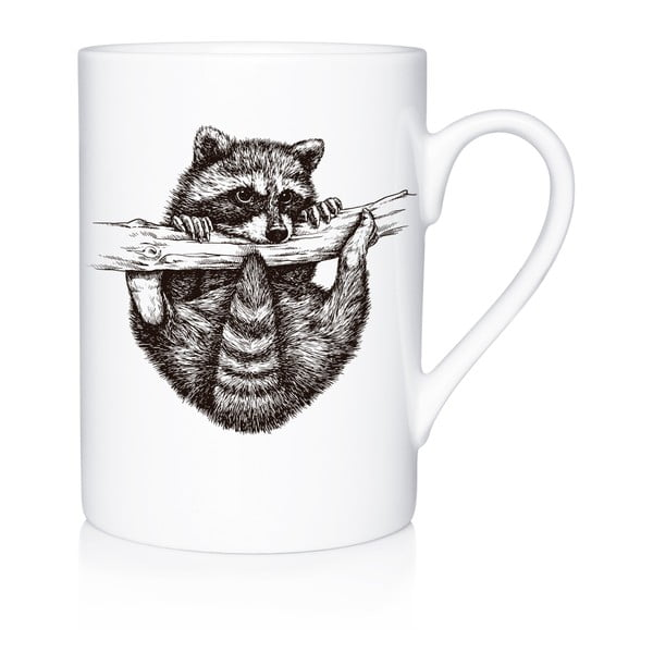 Porcelánový hrnek We Love Home Playful Racoon, 300 ml