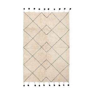 Bavlněný koberec s černými detaily Nattiot Tanvi, 110x170cm
