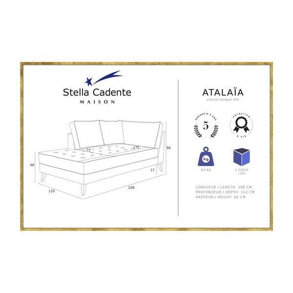 Světle hnědá lenoška s krémovým lemováním Stella Cadente Maison Atalaia, pravá strana
