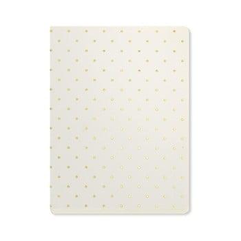 Agendă A6 Go Stationery Gold Polka Cream, detalii aurii