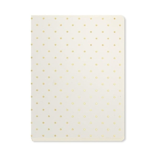 Agendă A6 Go Stationery Gold Polka Cream