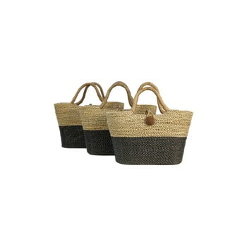 Set 3 coșuri depozitare din iarbă de mare HSM collection Basket Set Duro