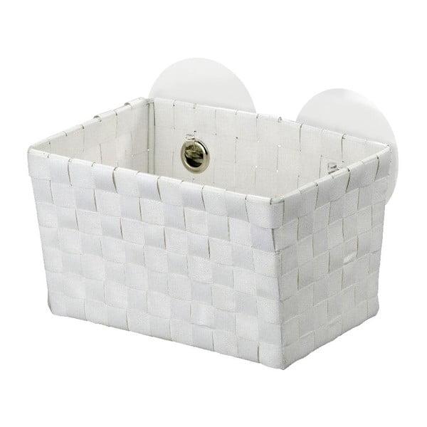 Bílý košík s přísavkami Wenko Fermo